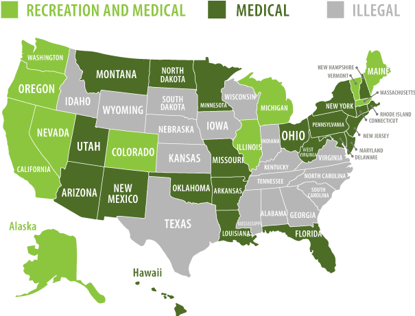 Cannabis Legal state map